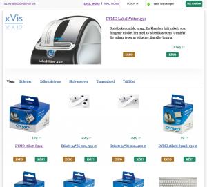 xVis besökssystem - tillbehörsbutik